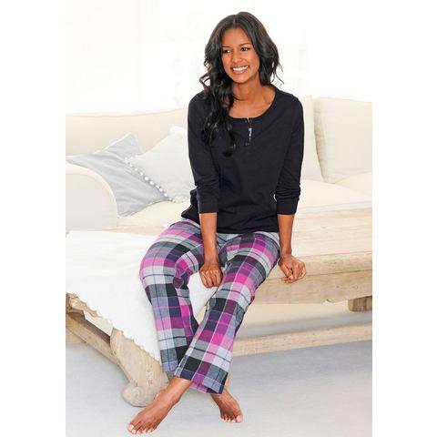 H.I.S Pyjama in flanelkwaliteit