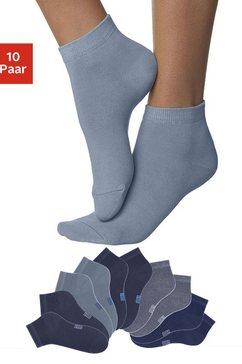 h.i.s korte sokken met verstevigde hiel en teen (10 paar) multicolor
