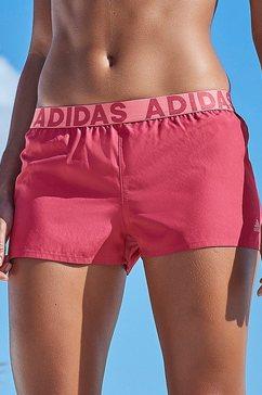 adidas performance zwemshort met merkopschriften roze
