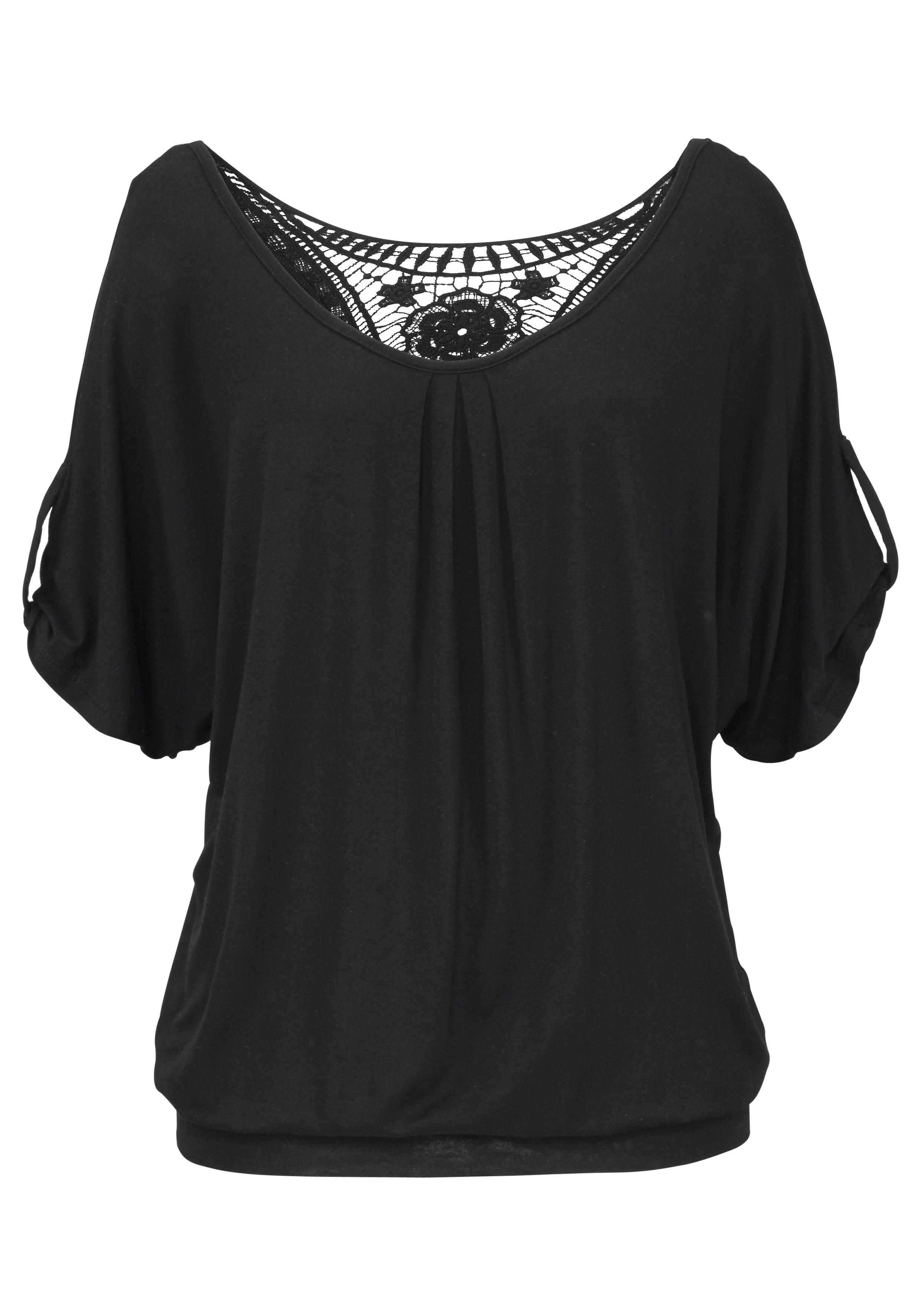 LASCANA Shirt met haakdetail achter goedkoop op lascana.nl kopen