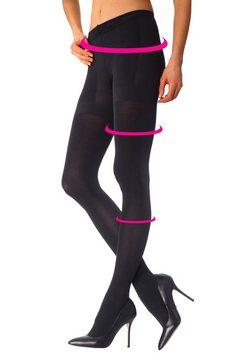 modellerende panty, calvin klein zwart