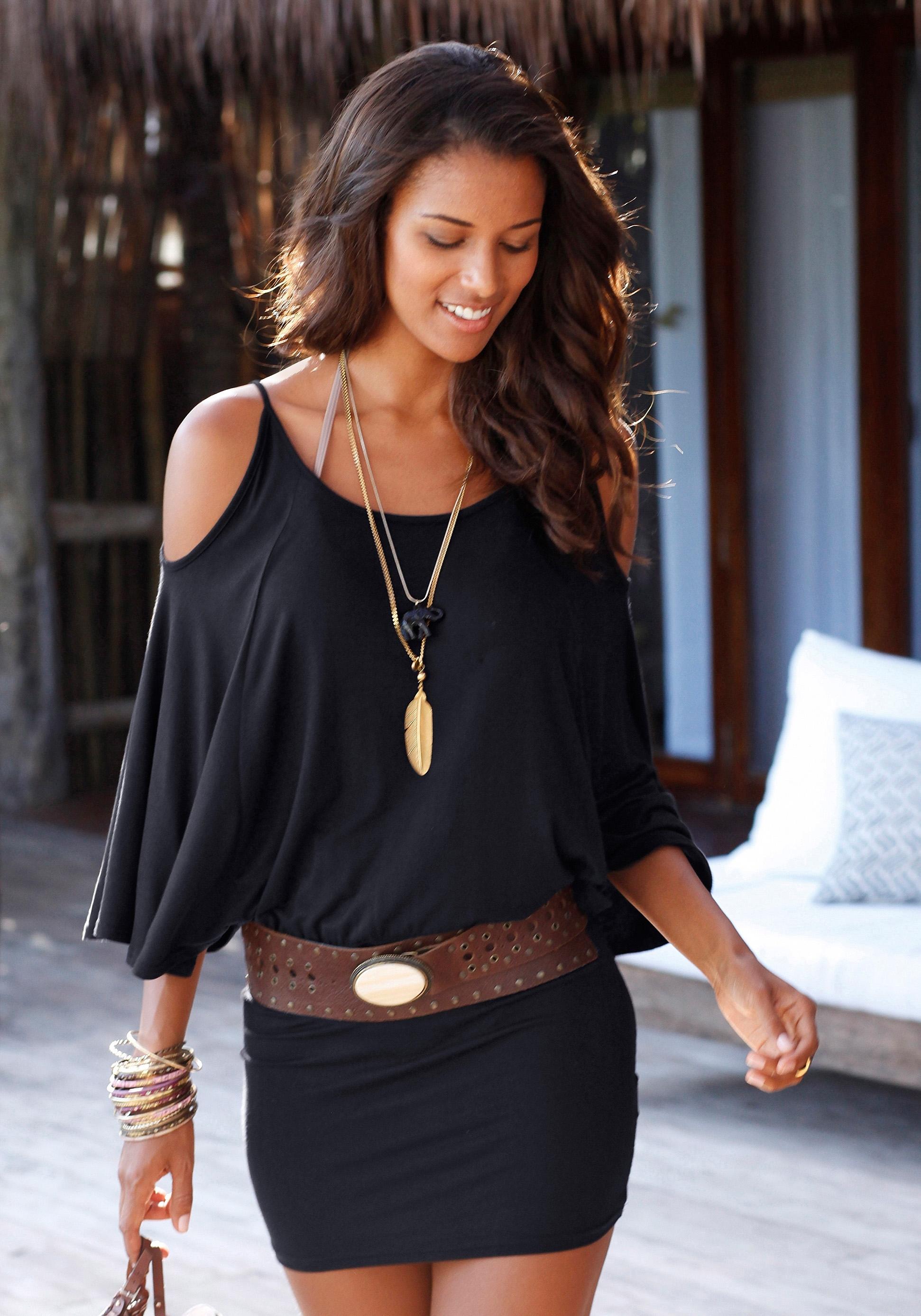 LASCANA Mini-jurk met wijde mouwen - verschillende betaalmethodes