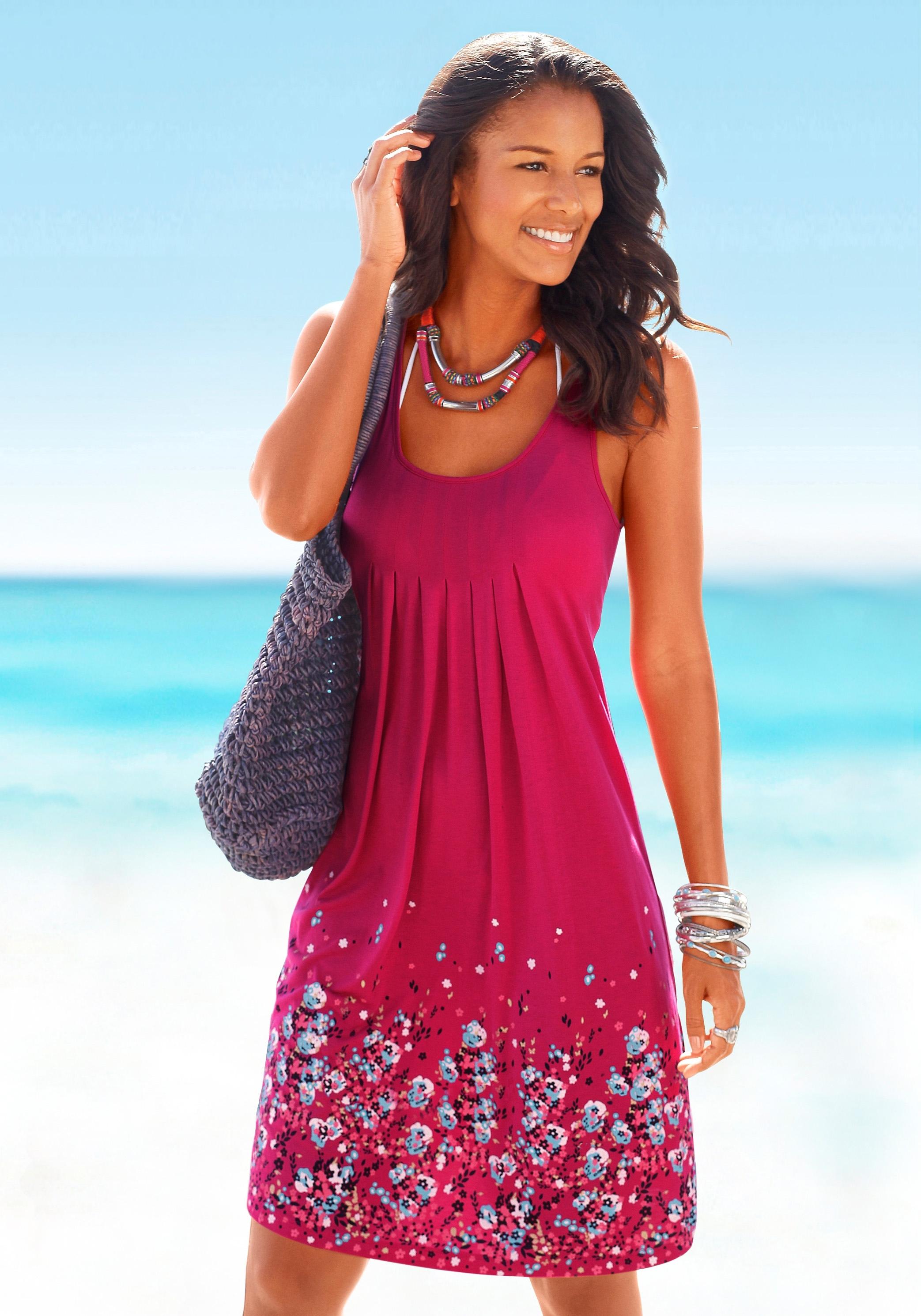 Beachtime strandjurk met bloemenprint voordelig en veilig online kopen