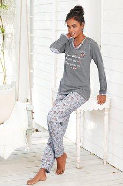 Pyjama met contraststrook aan de hals