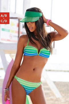 venice beach bandeaubikini in streepdessin (2-delig) groen