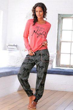 buffalo pyjama, gedessineerde broek met steekzakken rood