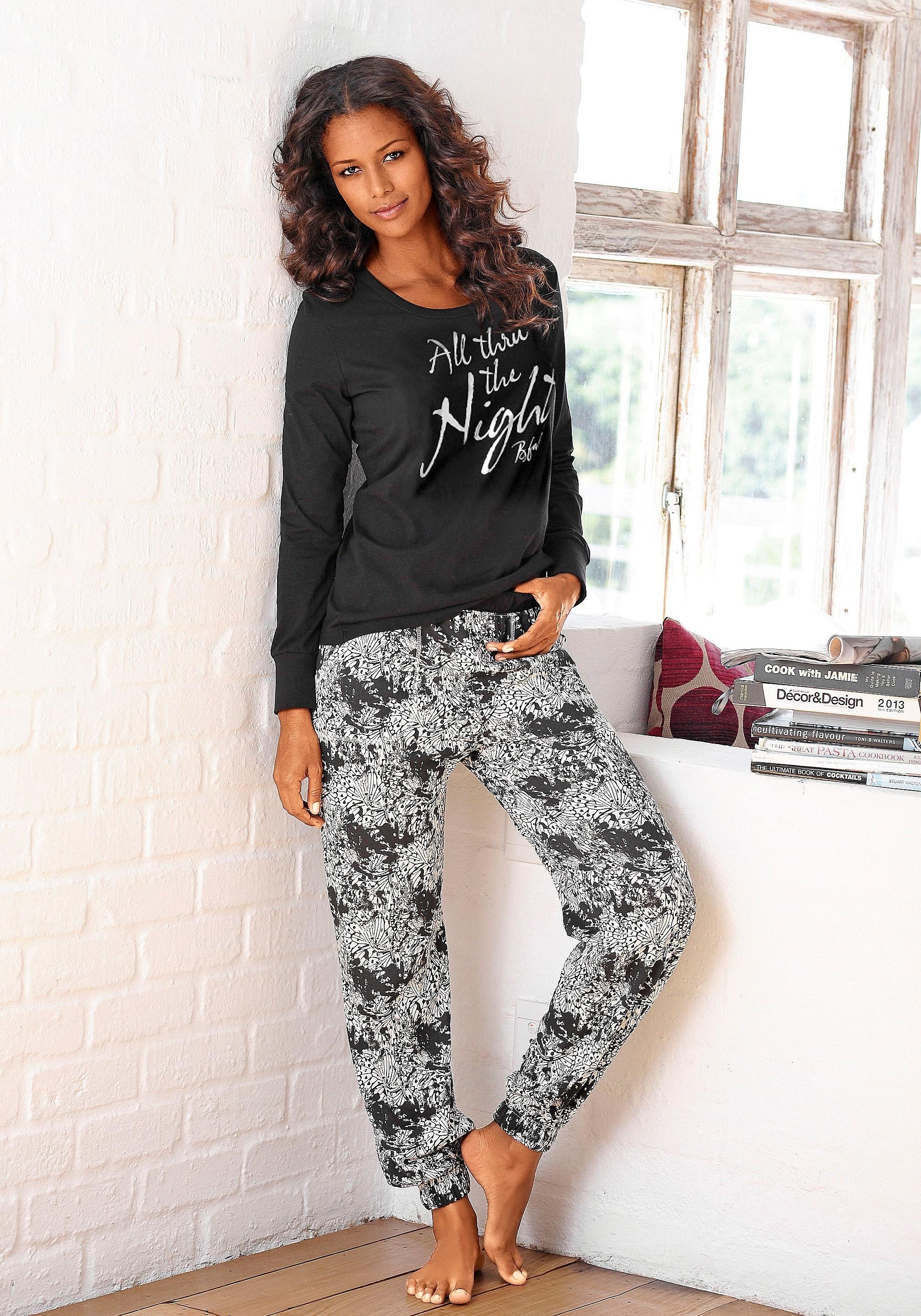 Buffalo pyjama, gedessineerde broek met steekzakken goedkoop op lascana.nl kopen