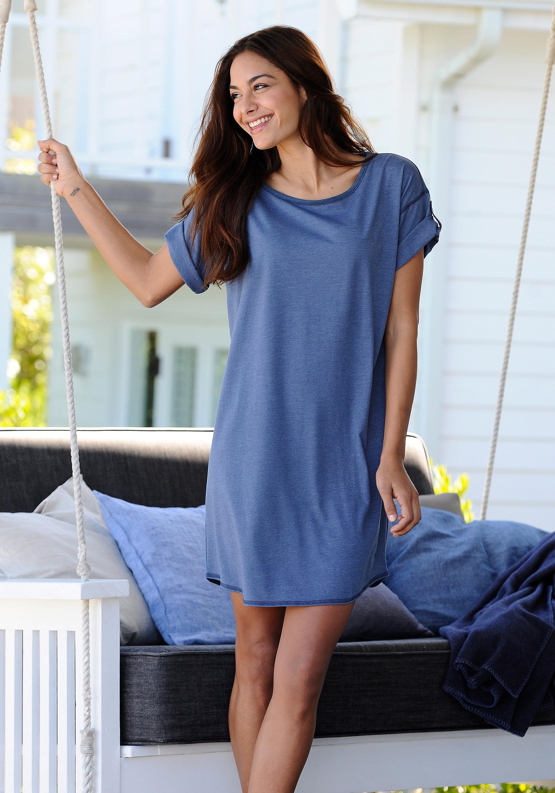 ARIZONA Nachthemd met parelmoeren knopen bij Lascana online kopen