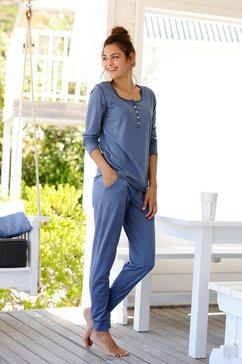 arizona pyjama in mêlee-look blauw