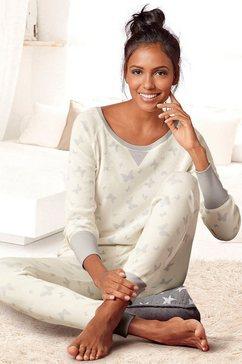 vivance dreams pyjama met details van satijn beige