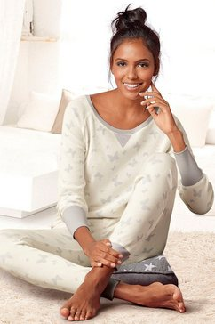 Pyjama met details van satijn
