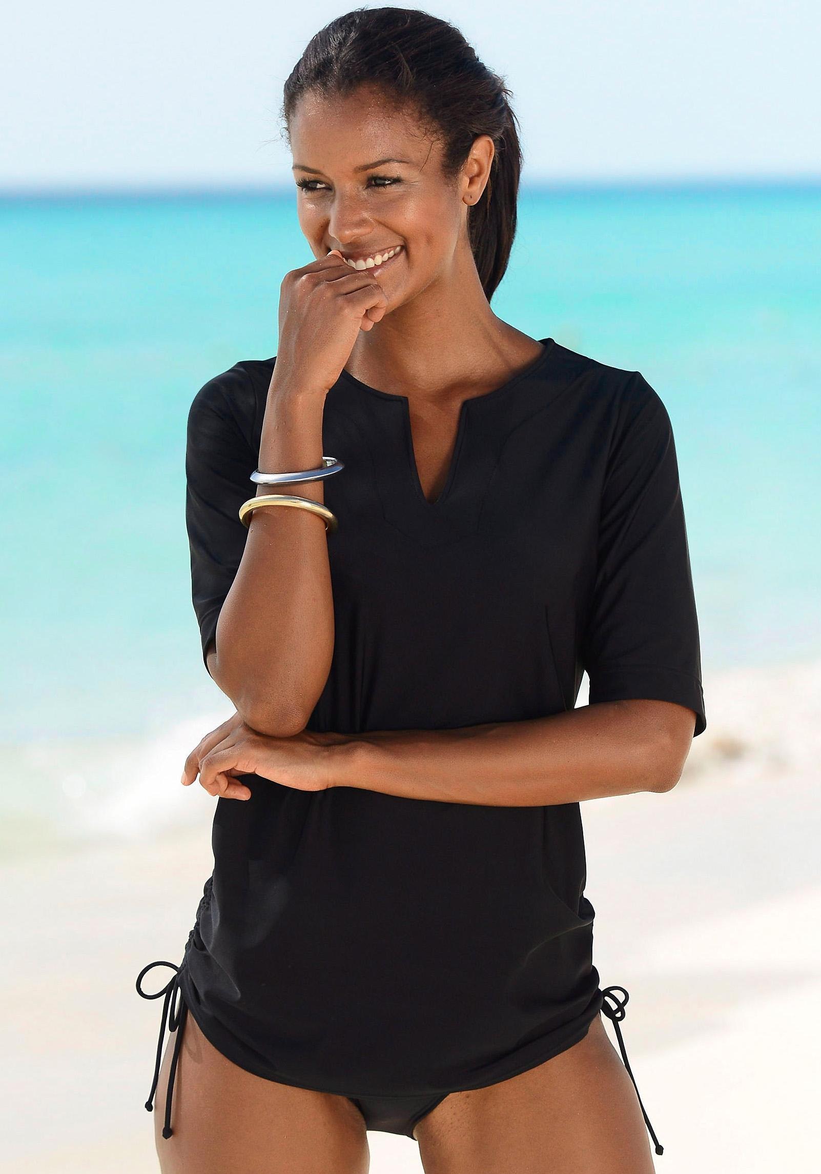 LASCANA Strand- en zwemshirt met tuniekhals - verschillende betaalmethodes