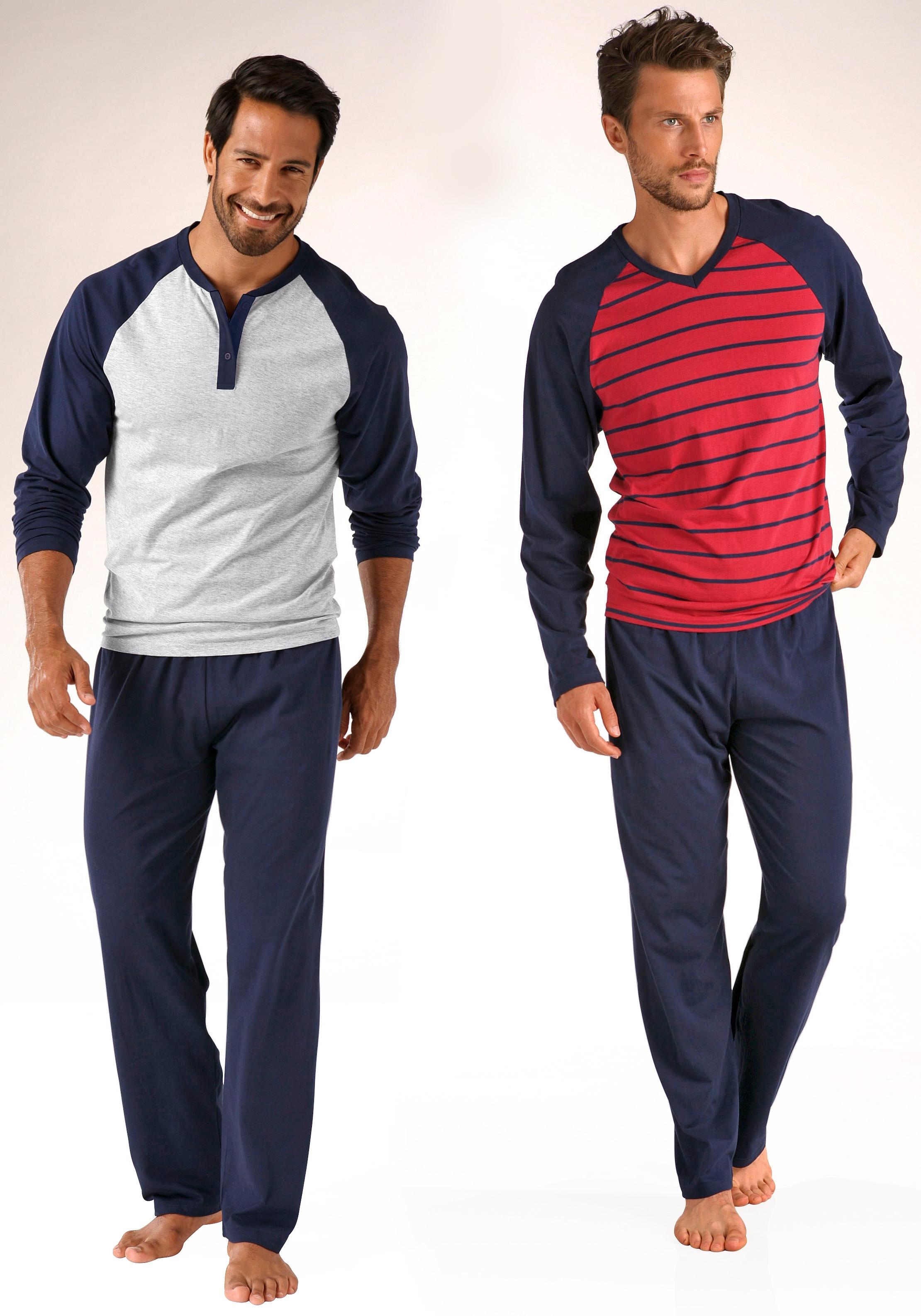 le jogger® pyjama (set van 2), in lang model, met raglanmouwen, van puur katoen bestellen: 14 dagen bedenktijd