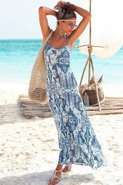 Maxi-jurk met Azteken-motief