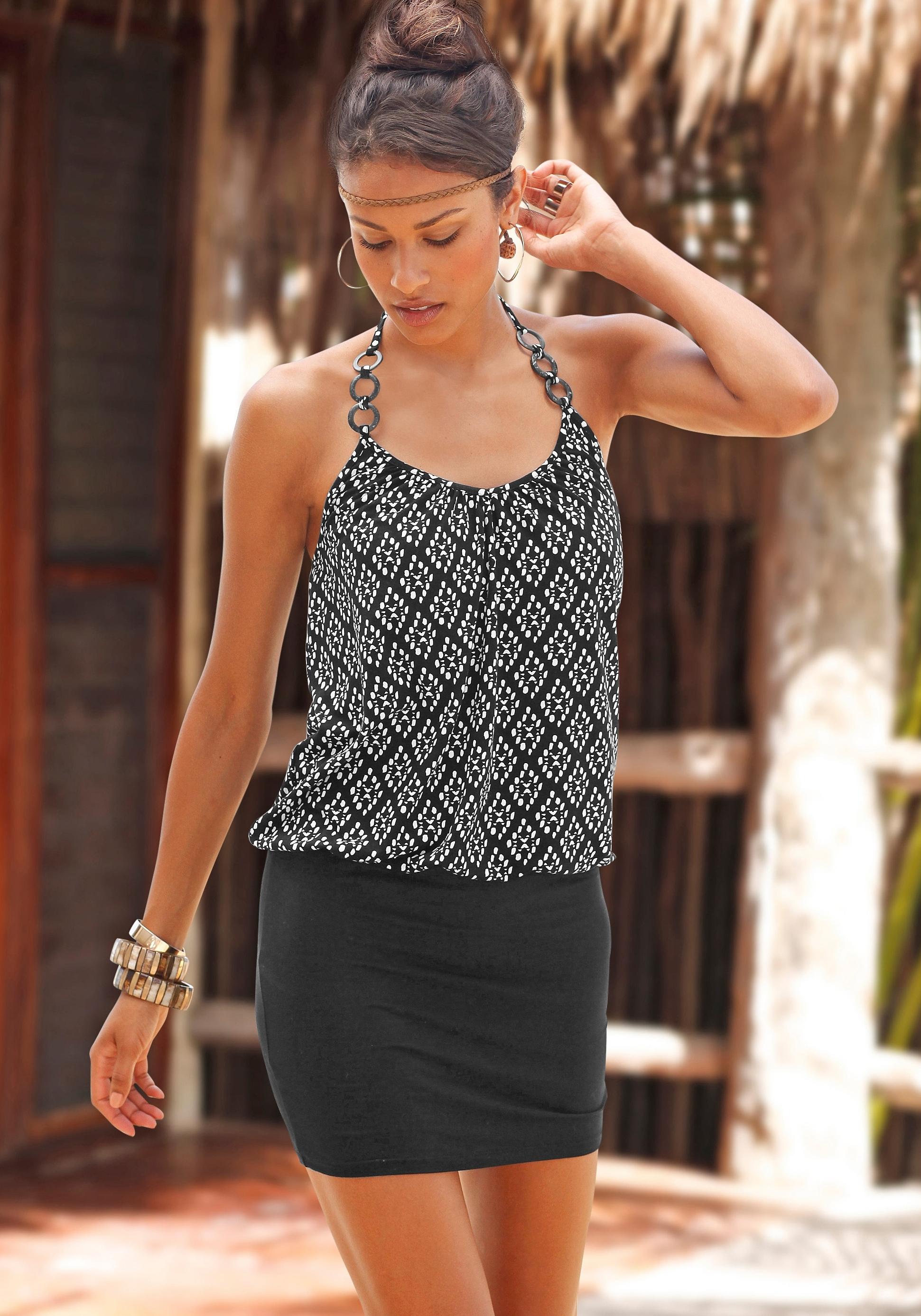 LASCANA Mini-jurk in haltermodel nu online kopen bij Lascana