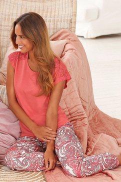 s.oliver pyjama met korte mouwen rood