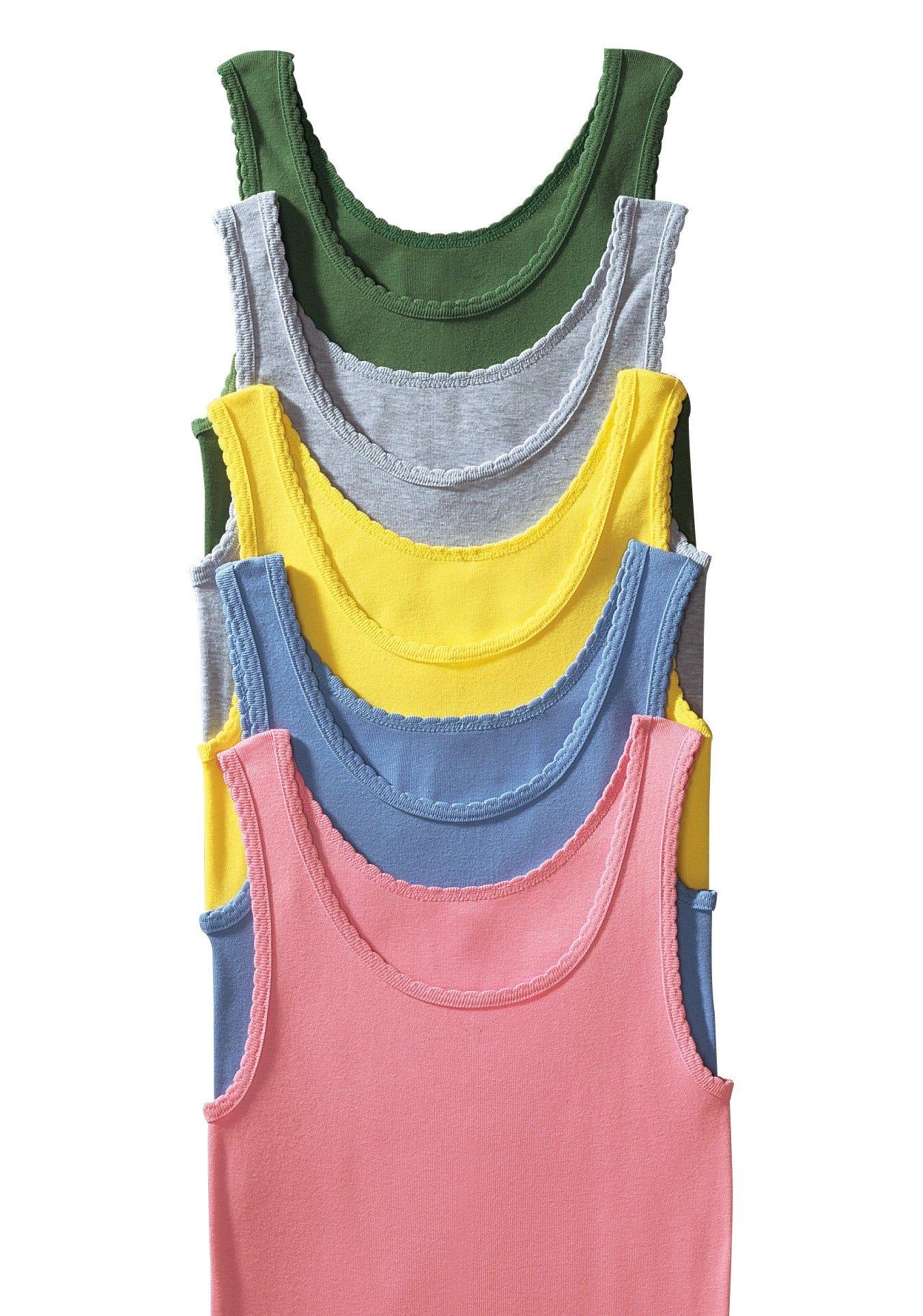 PETITE FLEUR dubbelrib-tanktophemd »Cotton made in Africa« (set van 5) bestellen: 14 dagen bedenktijd