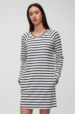marc o'polo nachthemd in ringoptiek grijs