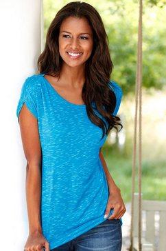 lascana shirt met korte mouwen, set van 2 multicolor