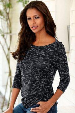 lascana shirt met 3-4-mouwen, set van 2 zwart