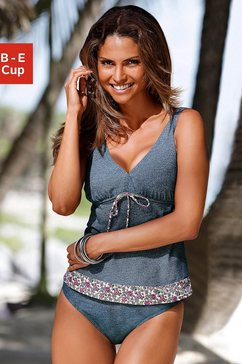 s.oliver beugeltankini in jeans-look blauw