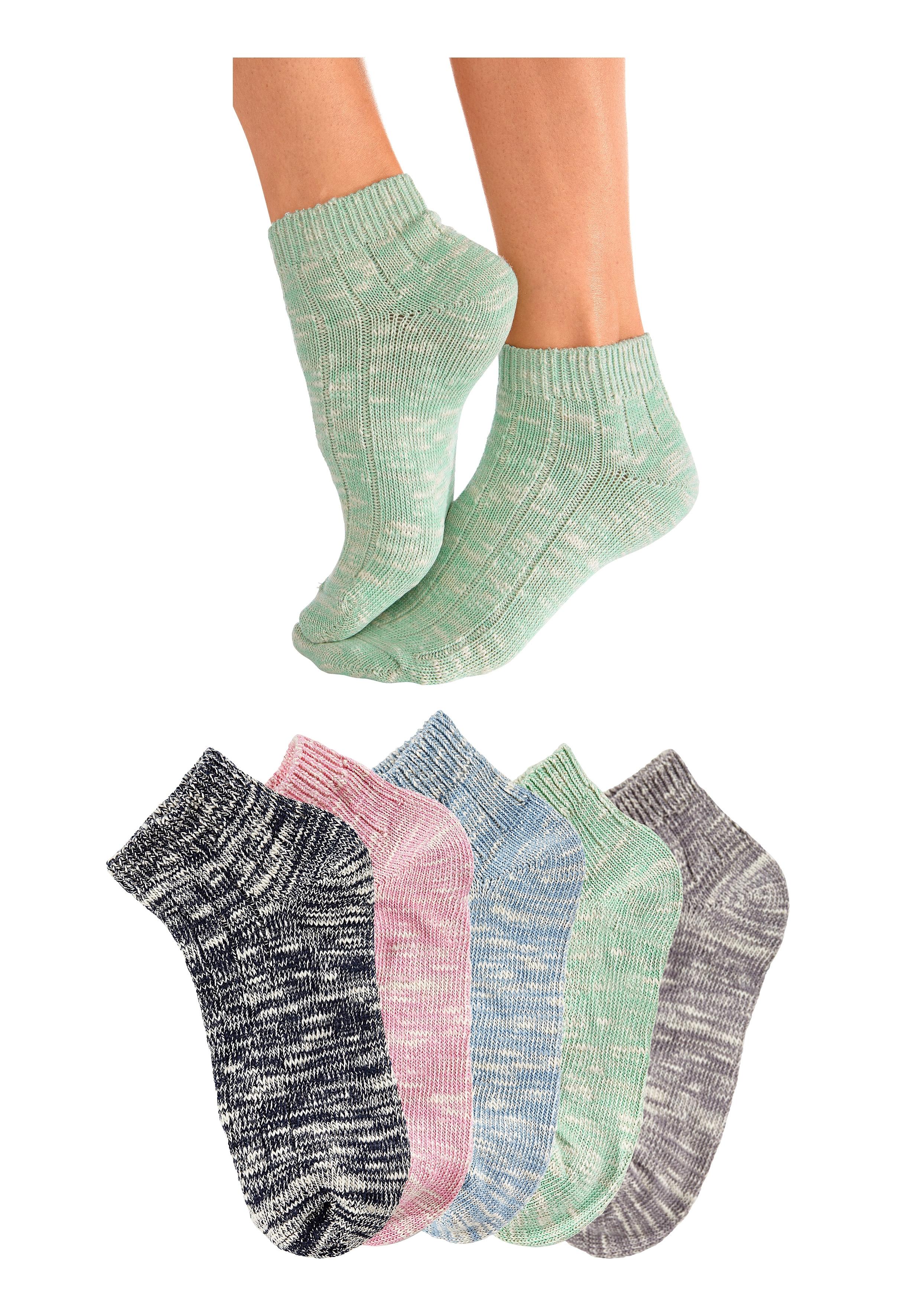 ARIZONA Korte sokken van slubgaren 5 paar voordelig en veilig online kopen