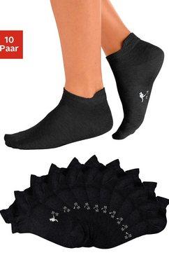 kangaroos sneakersokken met verhoogde hiel (10 paar) zwart