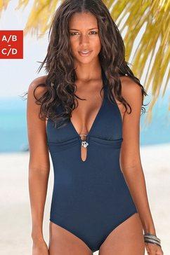 s.oliver beachwear badpak blauw
