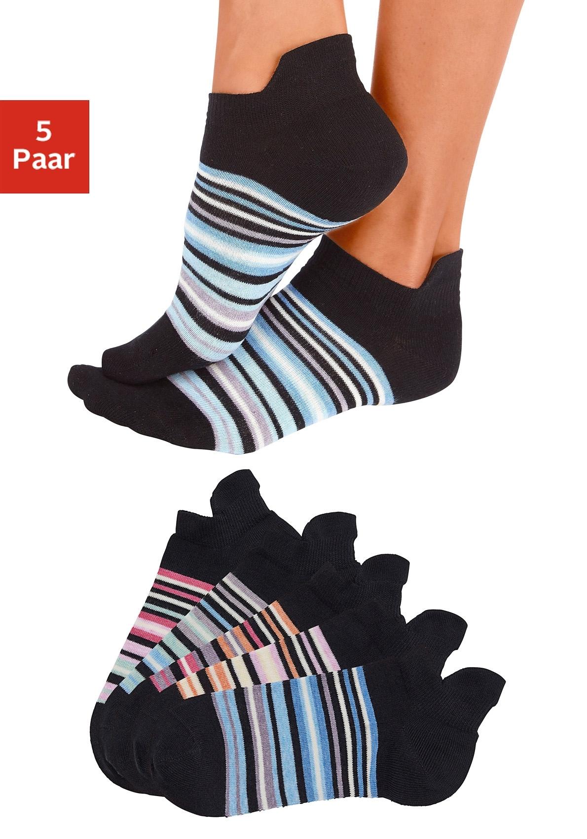 ARIZONA Sneakersokken in set van 5 paar goedkoop op lascana.nl kopen