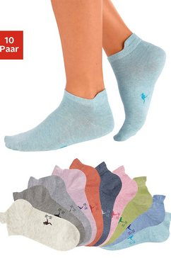 kangaroos sneakersokken met verhoogde hiel (10 paar) multicolor