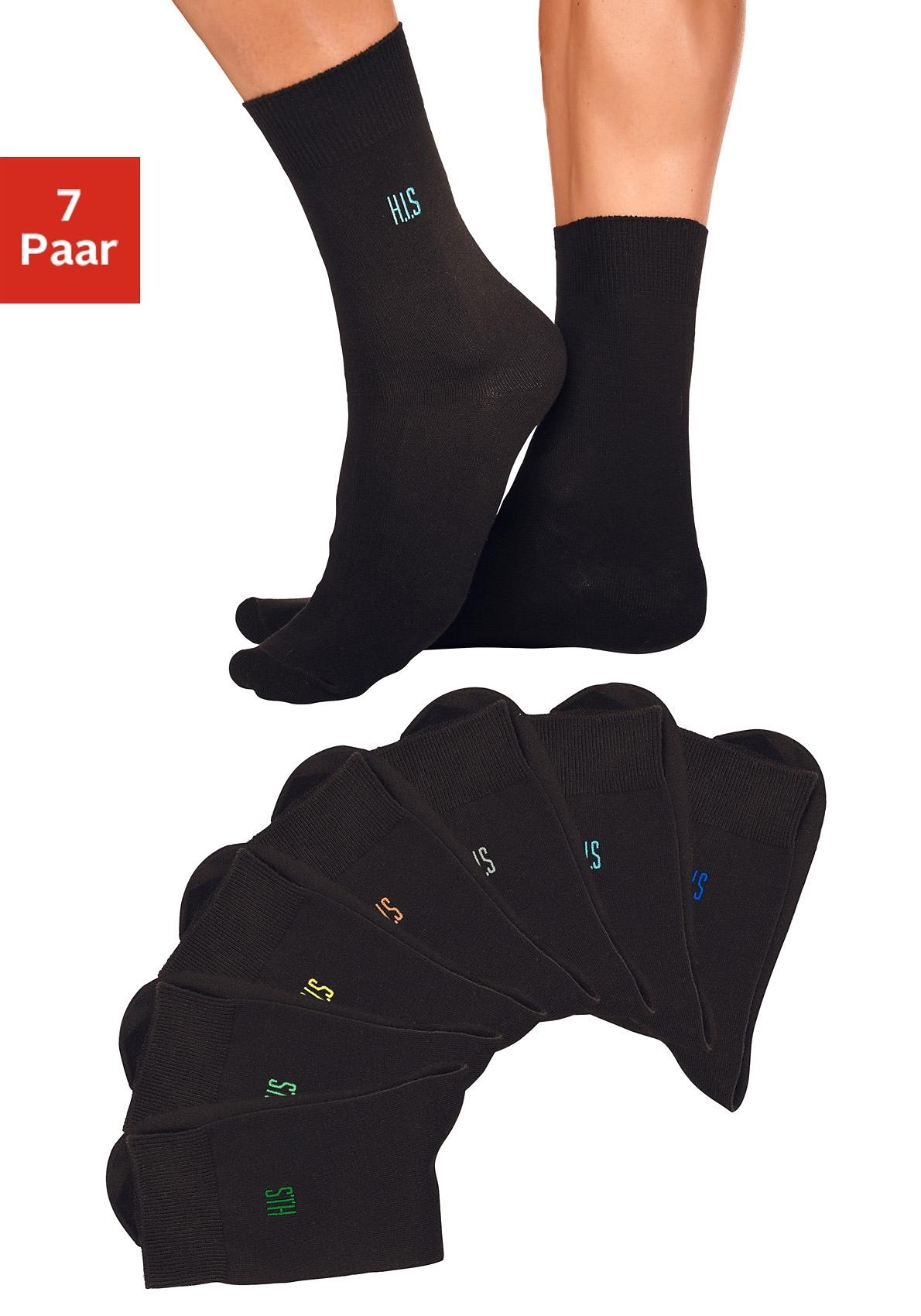 H.I.S basic sokken (set van 7 paar) met comfortboord - gratis ruilen op lascana.nl