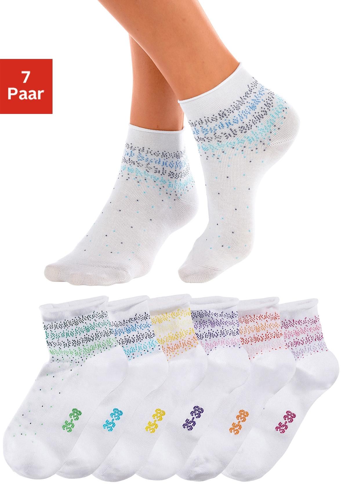 H.I.S Korte sokken 7 paar - gratis ruilen op lascana.nl