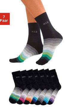 h.i.s sokken 7 paar zwart