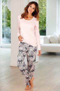 buffalo pyjama met gedessineerde broek en bijpassend shirt met lange mouwen roze