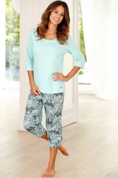 buffalo capri-pyjama van puur katoen groen