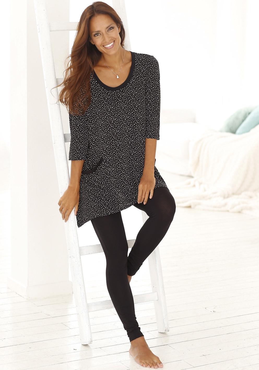 vivance collection Pyjama met gestippeld shirt nu online kopen bij Lascana