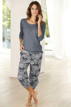 buffalo capri-pyjama van puur katoen grijs