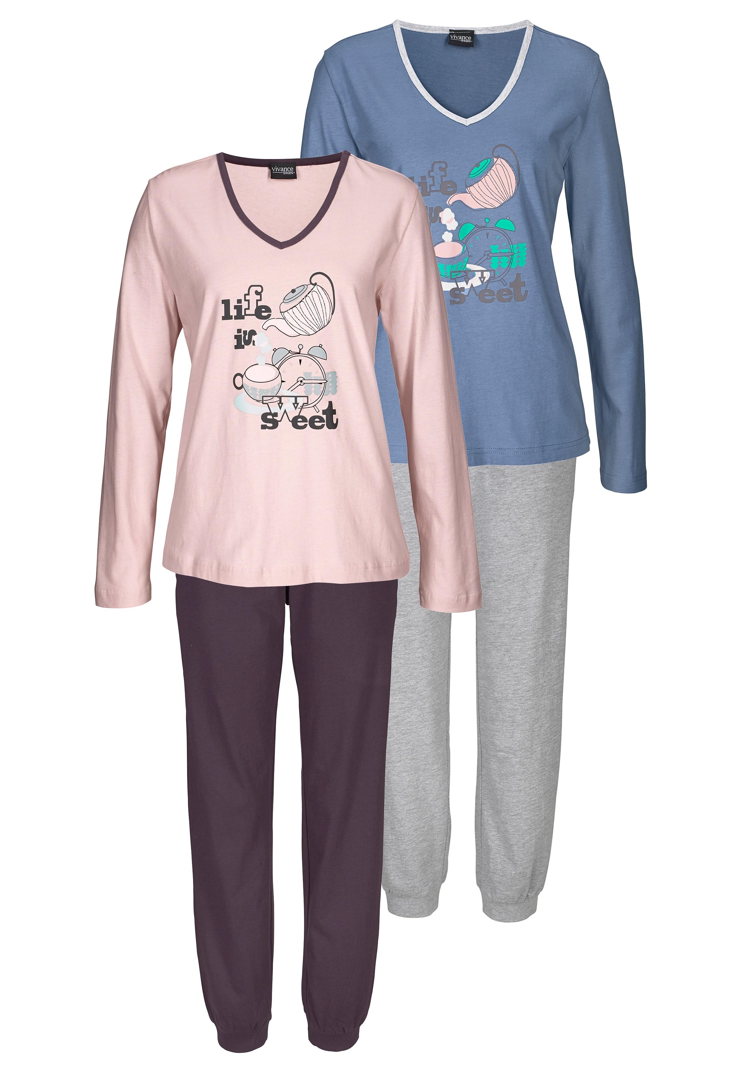 vivance collection 2-delige pyjama met print nu online kopen bij Lascana