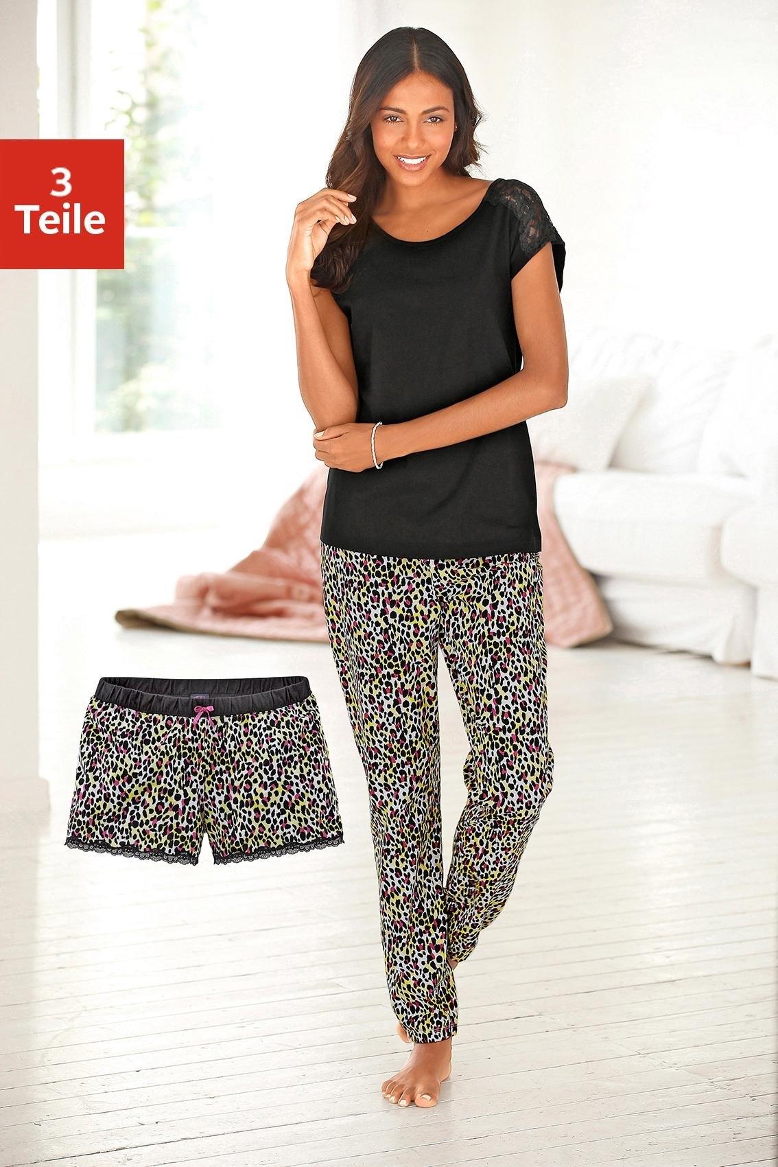 vivance collection 3-delige pyjama met luipaardmotief bestellen: 14 dagen bedenktijd