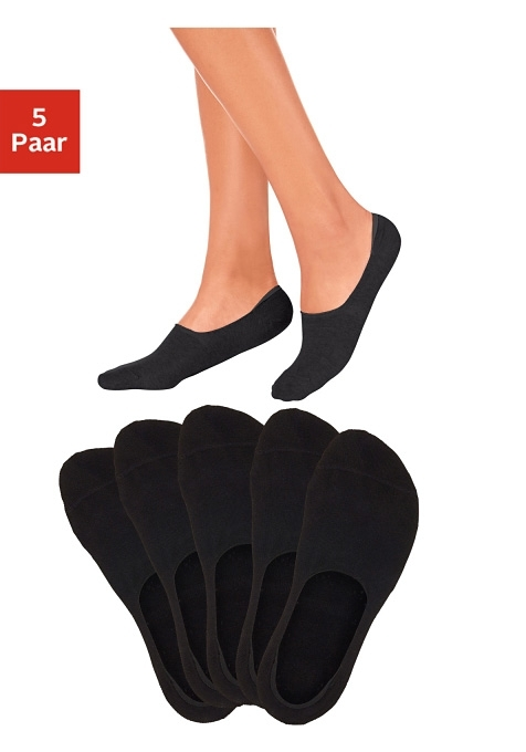 Bench. Open kousenvoetjes (5 paar), ideaal voor lage schoenen, leuke kleurkeuze voordelig en veilig online kopen