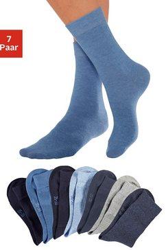 lavana basic sokken in set van 7 paar blauw