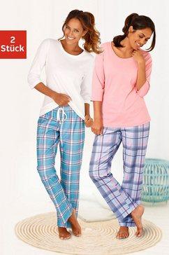 arizona pyjama van puur katoen in 2-delige set roze