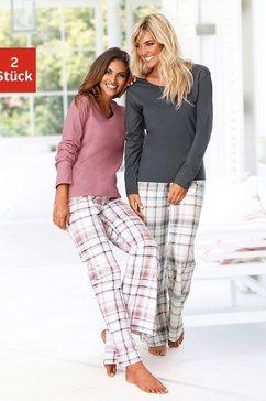 arizona pyjama met broek met ruitdessin (set van 2) multicolor