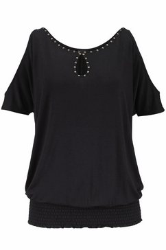 lascana strandshirt zwart