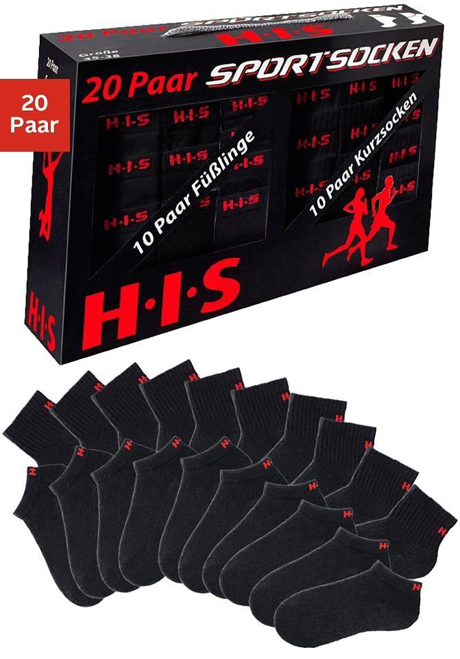H.I.S Korte sokken en sneakersokken met frotté (box, 20 paar) veilig op lascana.nl kopen