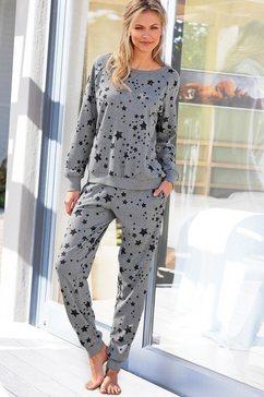 2-delige homewear outfit met allover-sterrenprint