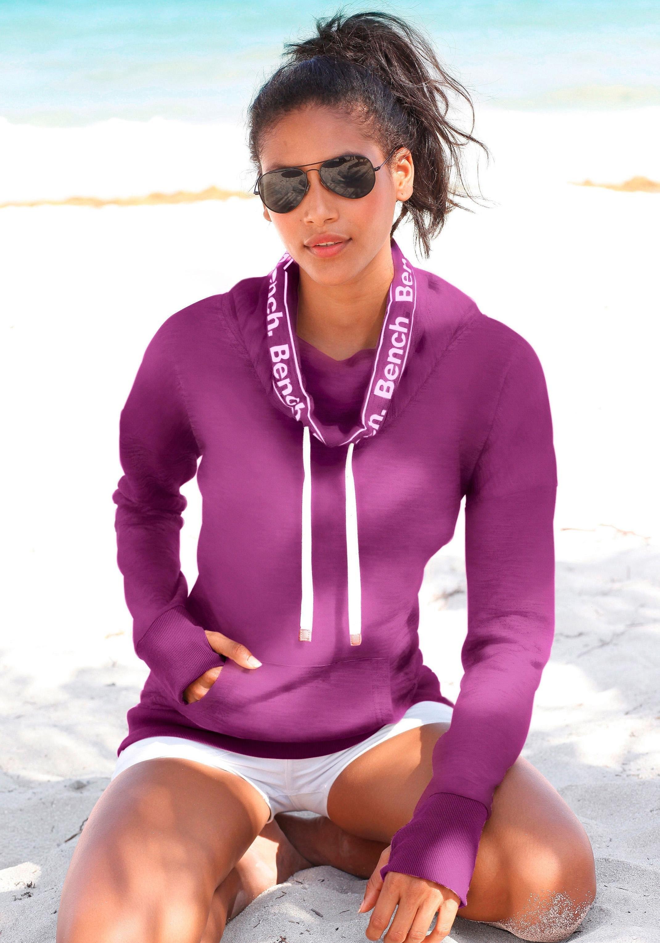Bench. sweatshirt met sjaalkraag nu online kopen bij Lascana
