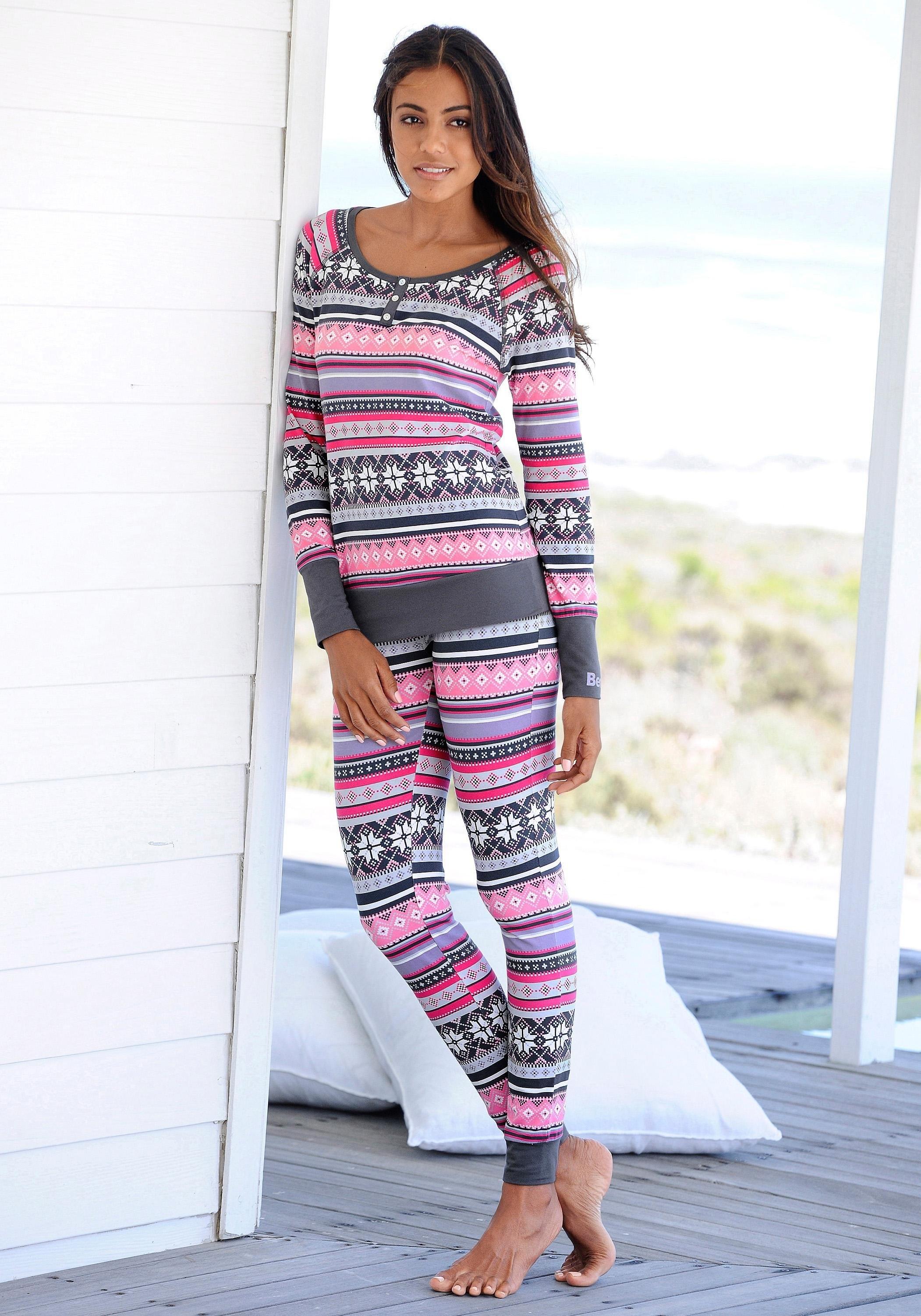Bench. pyjama met veelkleurig Noors dessin bij Lascana online kopen