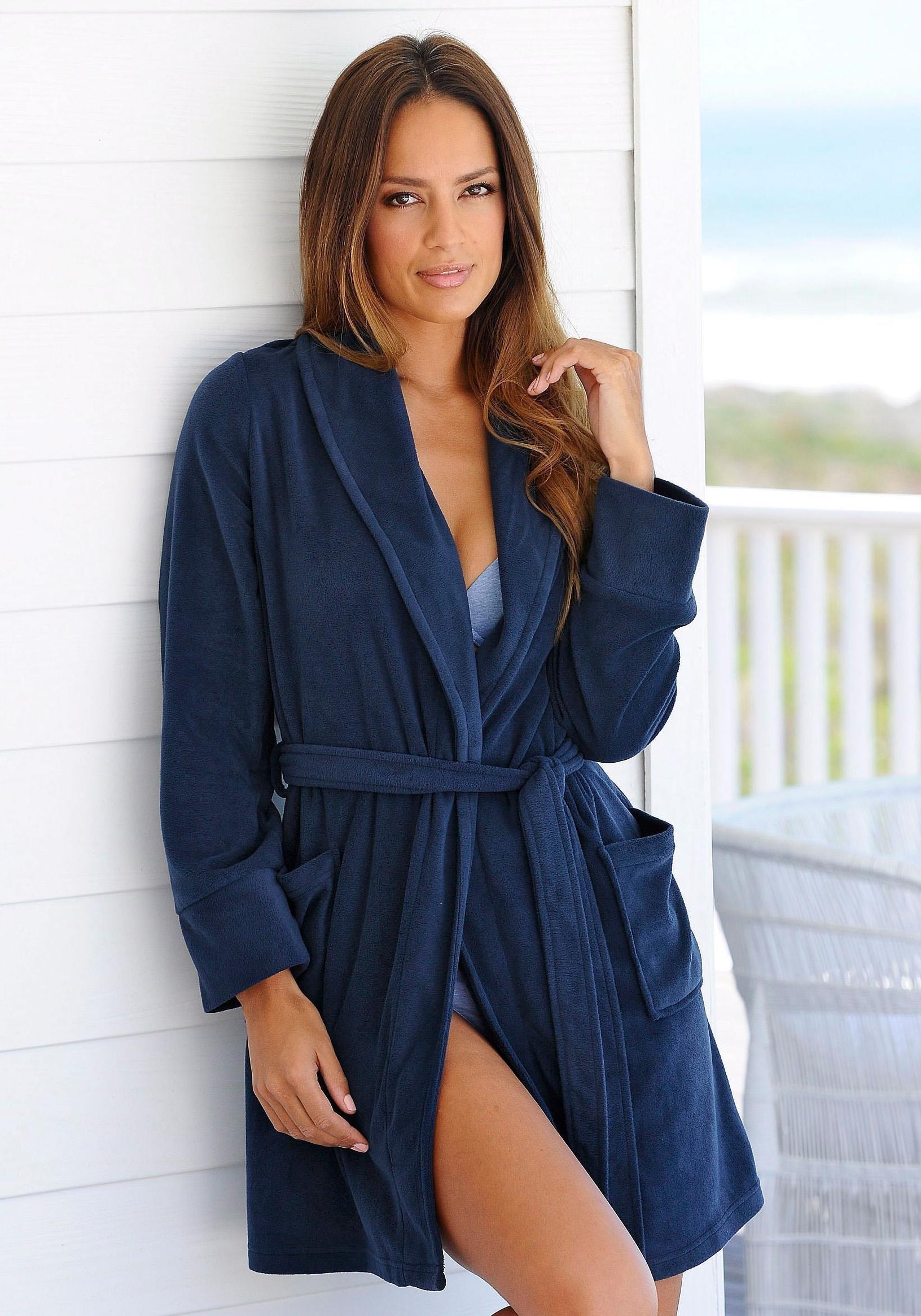 ARIZONA fleece-ochtendjas bij Lascana online kopen