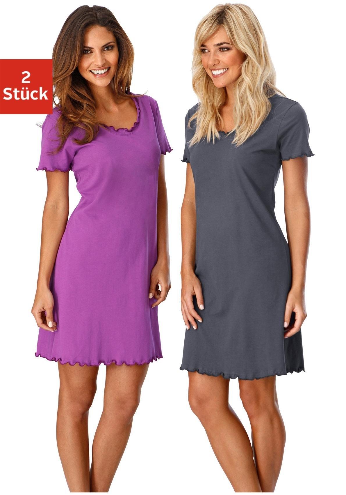 Vivance Collection Nachthemd, Vivance, set van 2 bestellen: 30 dagen bedenktijd